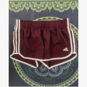 Burgundy Running Shorts